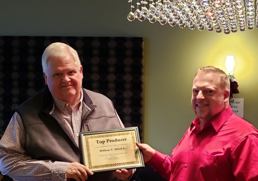 Top Producer Recognition William Allred